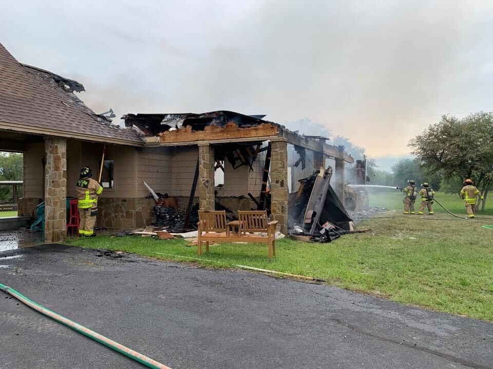 Fire destroys home in rural Victoria County