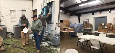 Warming shelter in Goliad County