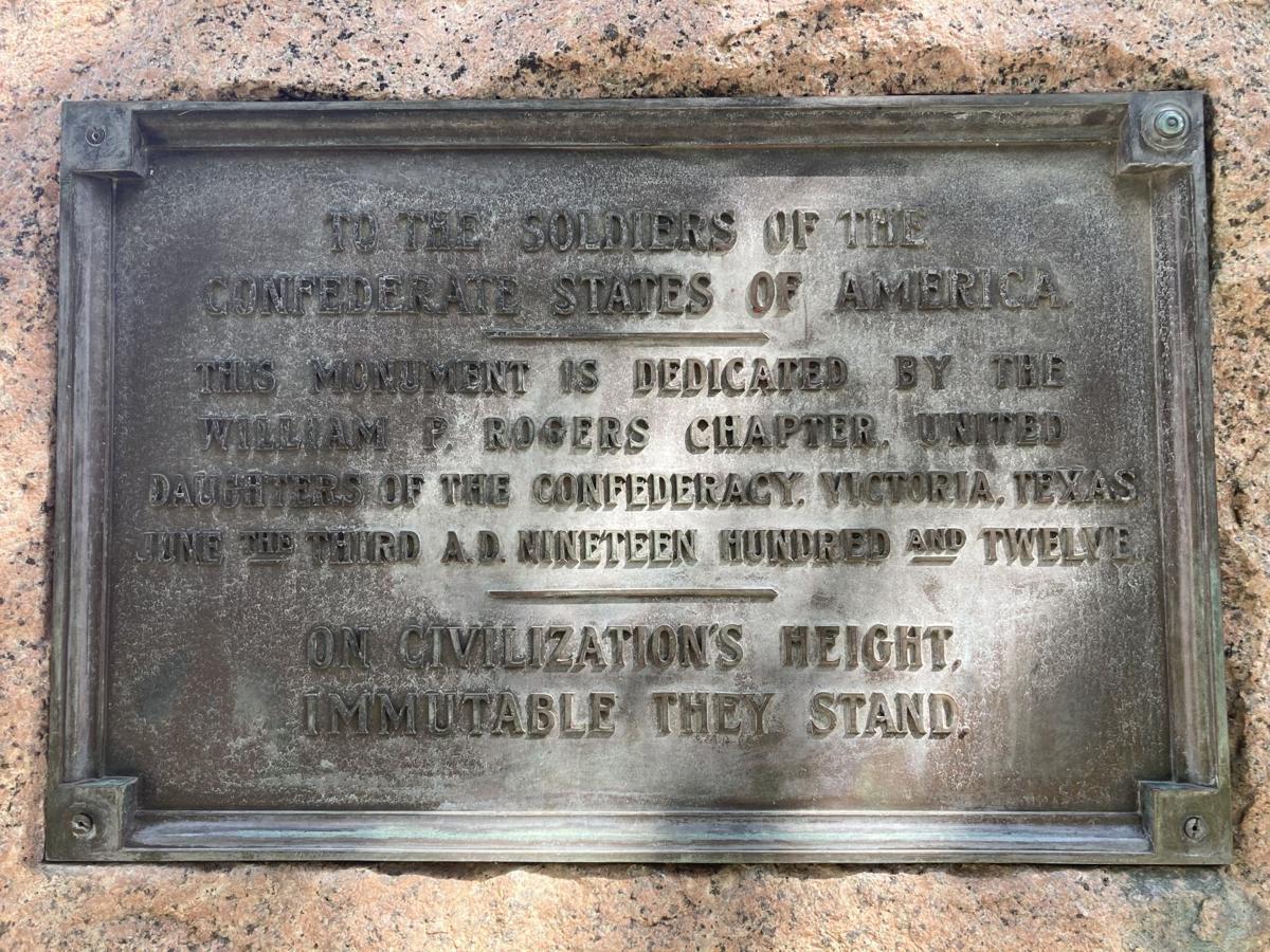 Confederate monument plaque)