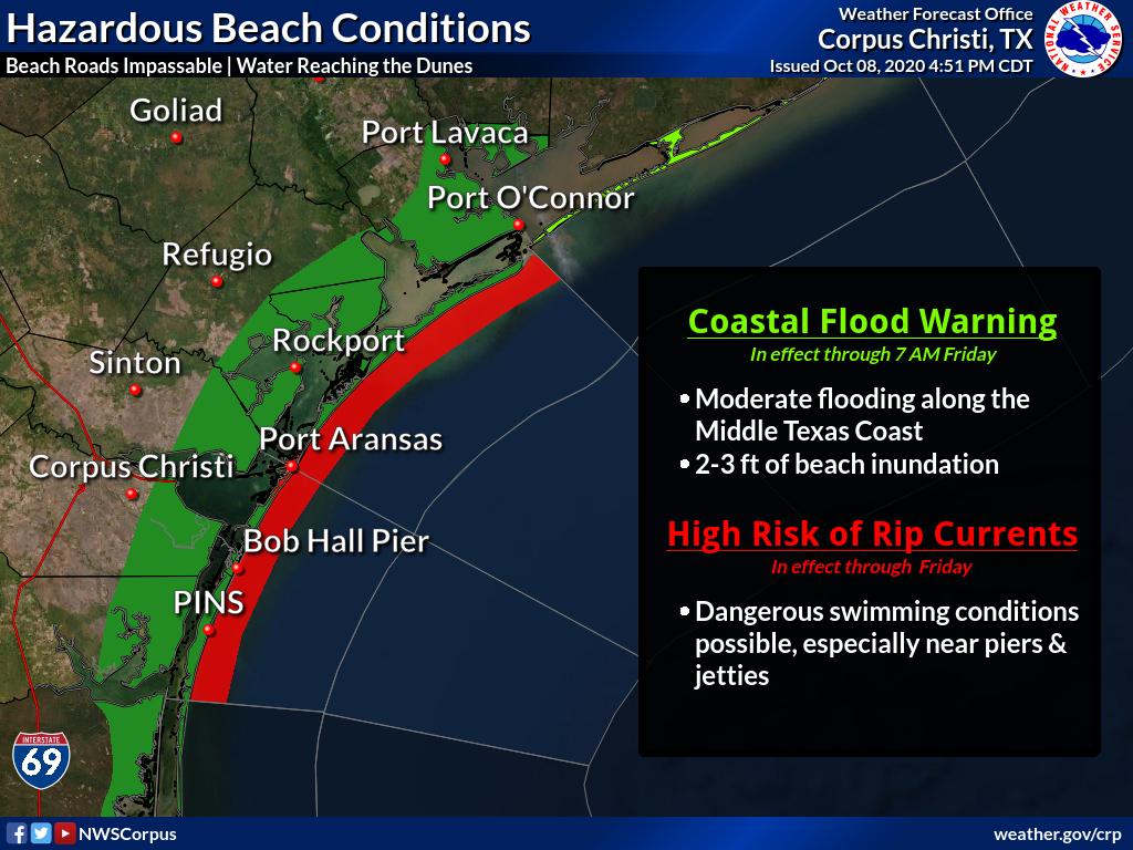 Coastal flooding forecast