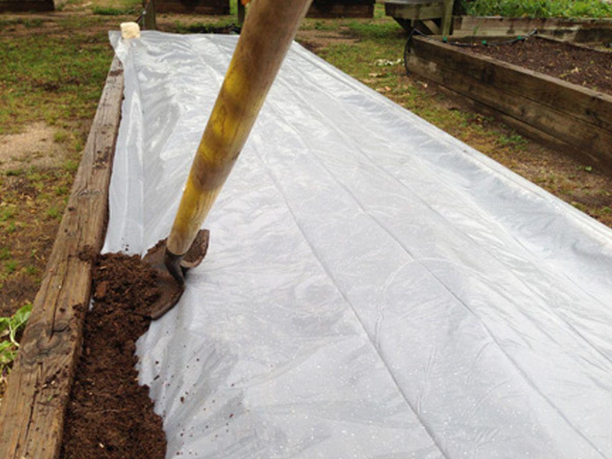Trenching plastic edges on bed