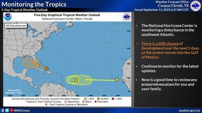 Meteorologists are monitoring an Atlantic disturbance