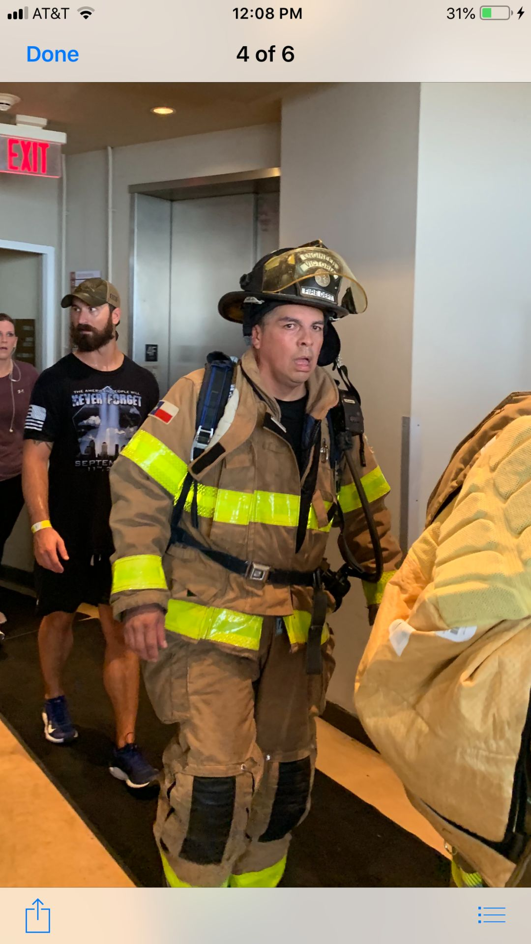 Victoria firefighters climb Tower of Americas