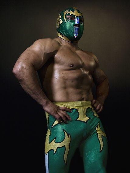 Masked Luchador headlines for live pro wrestling event