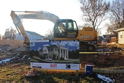 Alpha Omicron Pi house construction