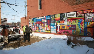 Uptown mural to move behind Water Department building