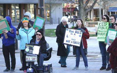 Protesters rally for a better Transit