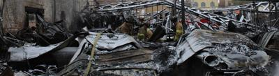 Bloomington firefighters start clean-up following downtown fire