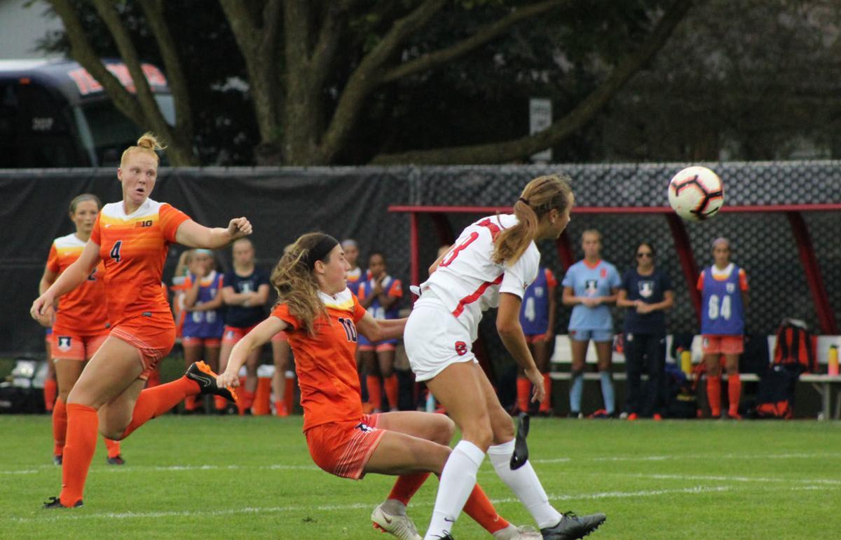 redbirds vs illini women's soccer, Kate Del Fava