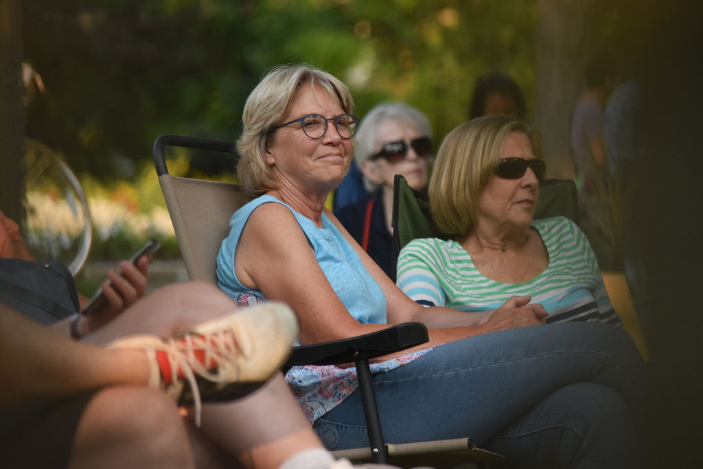 Concert on the quad 2019 audience smiling