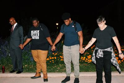 black student union BLM vigil