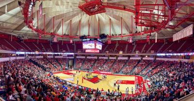 Redbird arena new volleyball game