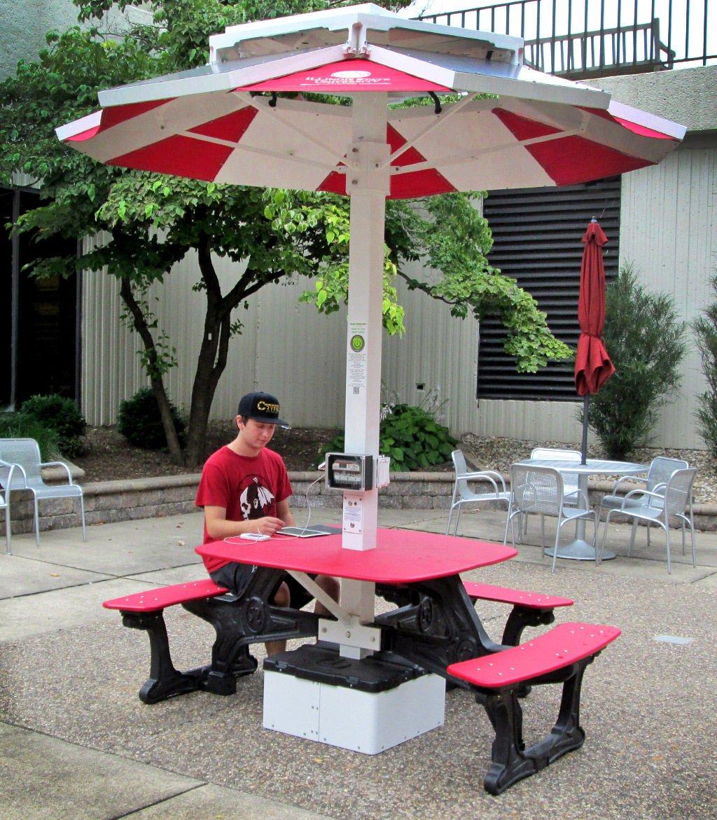 Solar Picnic Table Provides Ecofriendly Study Area News - Solar picnic table