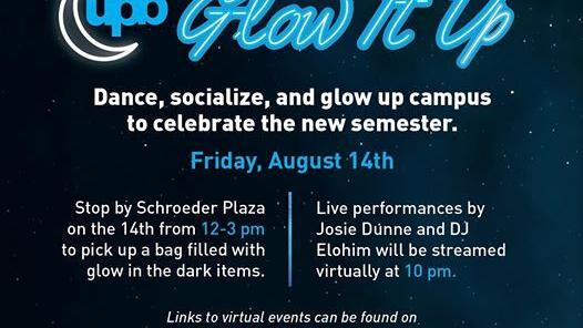 UPB to host virtual Glow It Up party