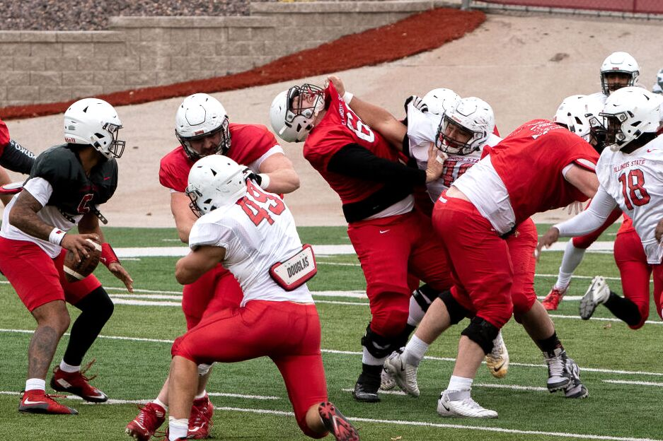 Redbird Football scrimmage-17