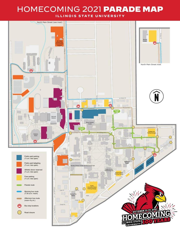 Homecoming 2021 Parade Map