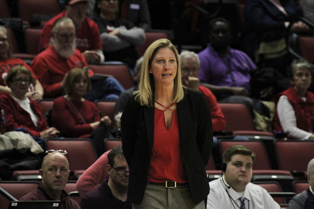women's basketballvsWIU_Coach Gillespie