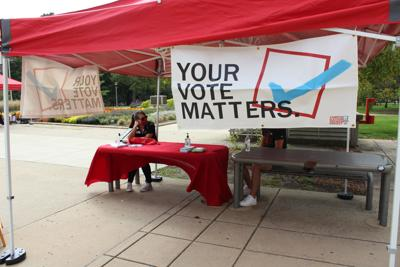 voter registration on the quad