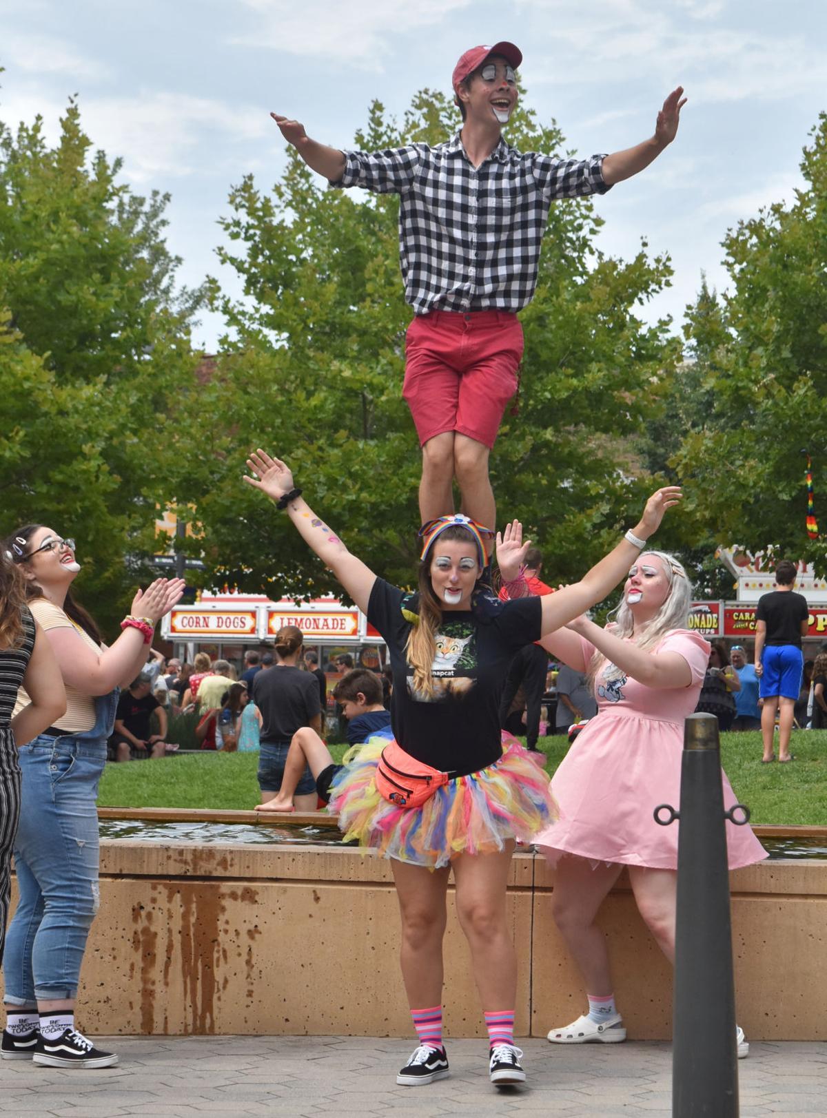 Circus members at Sweet Corn Circus Festival
