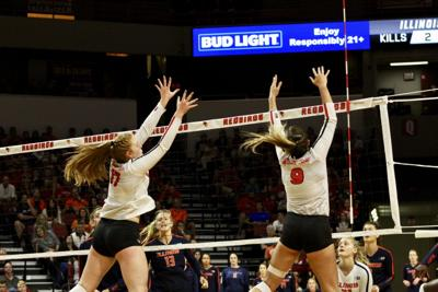 Redbirds oust in-state rival No. 14 Illinois 3-1 in four sets