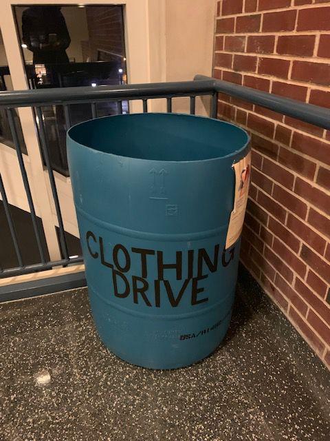 clothing drive bucket