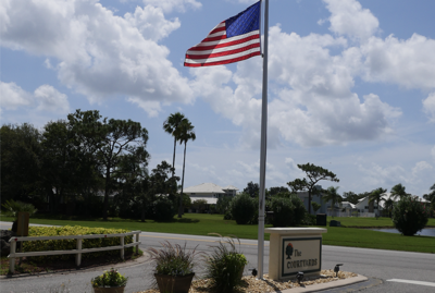 The Courtyards' flags fly high