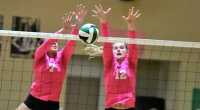 Mustangs outlast Hawks in four-set thriller at 16th annual Pink Game