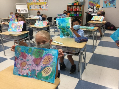 Students create artwork to bring a smile to seniors