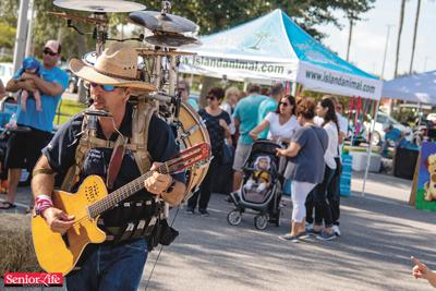 One-man band brings unique talents to Drive-Thru Senior Expos