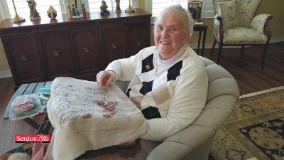 Former teacher hooked on rugs in retirement