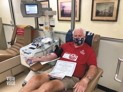 Melbourne blood donor reaches 100-gallon milestone