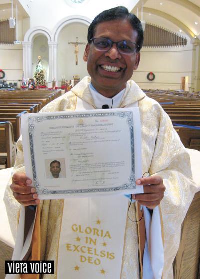 St. John the Evangelist pastor becomes U.S. citizen
