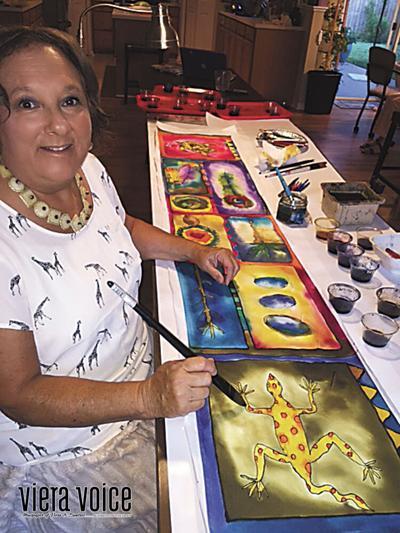 Baker creates awareness of nature through her silk art