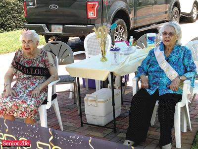 Two Cocoa Beach area neighbors celebrate 100th birthday on same day