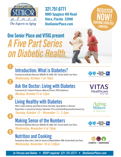 Organizations offer seminar series on confronting diabetes