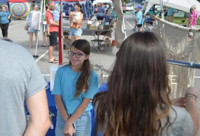 Children are all business at Viera fair
