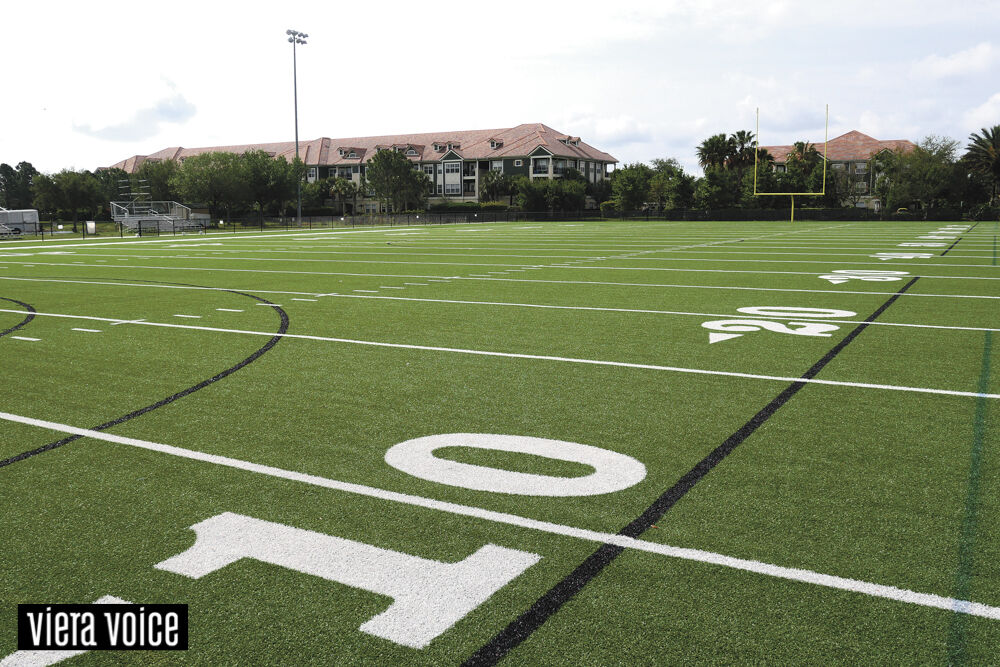 A diverse athletic facility provides miles of walking paths for Viera residents