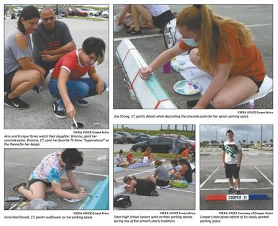 Viera High seniors display their artistic side in painting parking spots