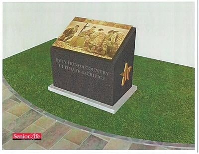 New bronze monument linked to local military loss