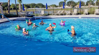Water aerobics helps ease back, joint pain