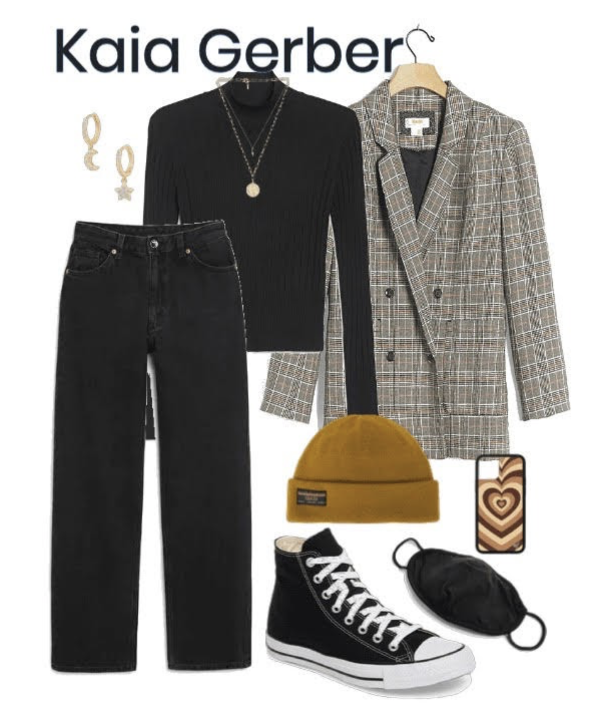Outfit inspired by Kaia Gerber.