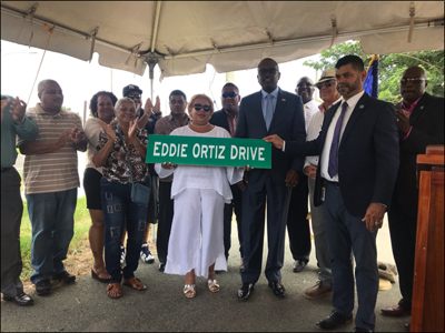 Eddie Ortiz honored with Estate Profit street