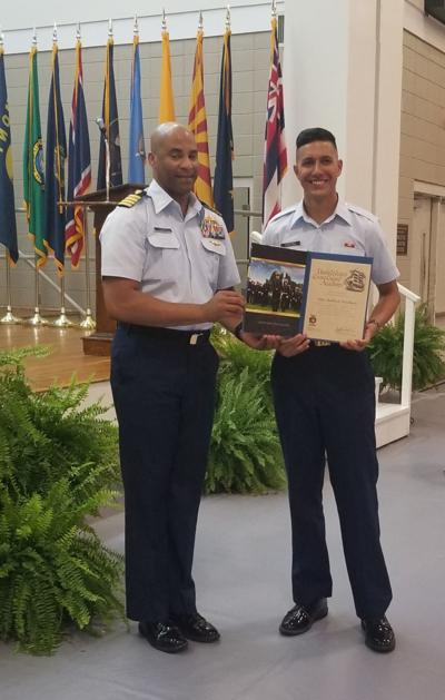 Silas Wisehart, 19, receives his appointment to the U.S. Coast Guard Academy. Photo provided by Lisa Wisehart.