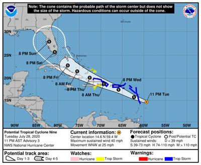 Potential Tropical Cyclone Nine