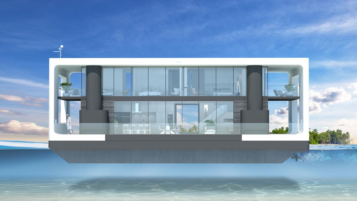 This houseboat of the future is a 5 5M ifloatingi mansion