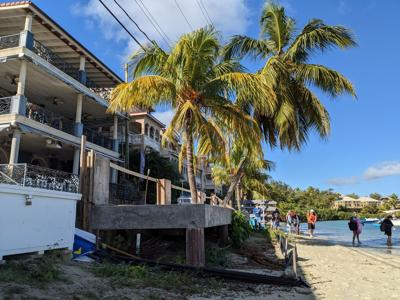 Concrete deck in Cruz Bay could be torn down