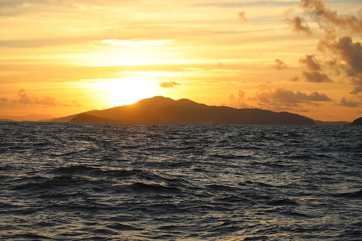 Sunrise off southern St. Thomas