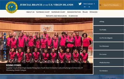 V.I. courts website