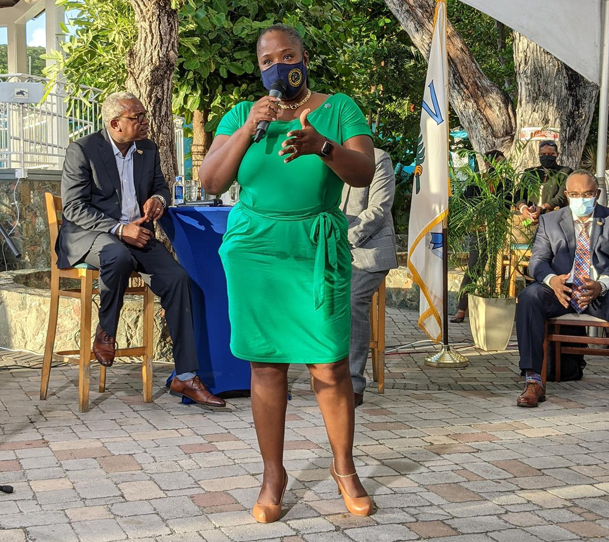 Bryan, cabinet members respond to resident concerns in St. John town hall meeting