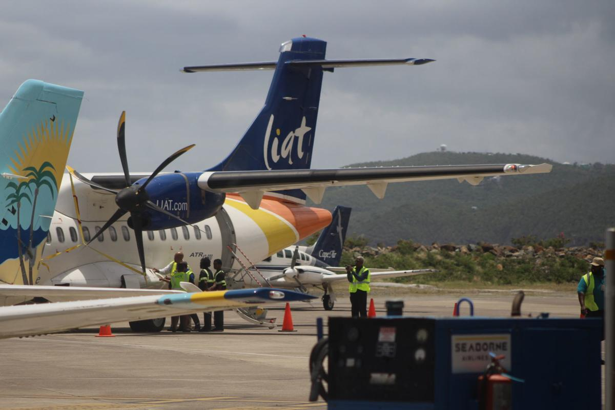 liat resumes service to st  thomas from antigua